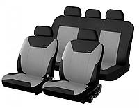 Чехлы сидения Hadar Rosen CORSAR Черно/Светло-Серый (Ткань-Эластик) №10346