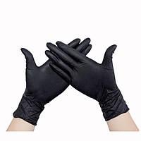 Перчатки S черные нитриловые, неопудренные Polix Pro&Med  (50пар/упак)