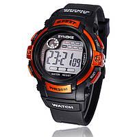 """Мужские спортивные цифровые наручные часы """"Synoke"""" оранжевые"""