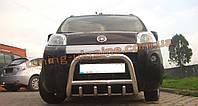 Защита переднего бампера кенгурятник из нержавейки на Fiat Fiorino 2008