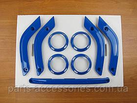 Jeep Wrangler 2011-14 синие накладки в салон на панель торпедо и двери Новые Оригинал Jeep