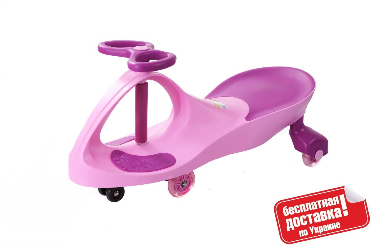 Машинка детская Smart car Бибикар с полиуретановыми колесами (Bibicar, smart car), pink+purple