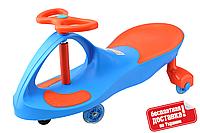 Машинка Бибикар с полиуретановыми колесами (Bibicar,  Smart car), BLUE+ORANGE