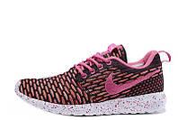 Женские кроссовки Nike Roshe Run Flyknit London Pink  40