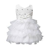 Платье бальное белое с бантом 1 год 74554 Китай