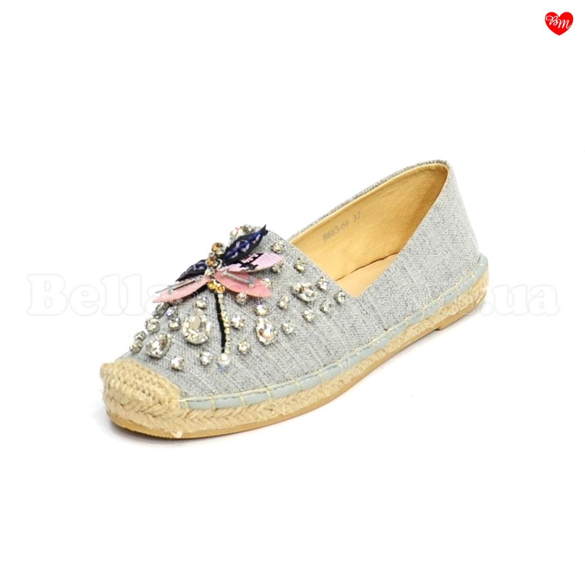 100d712ab1a1 Купить Женские текстильные эспадрильи стрекоза камни Dior в розницу от ...