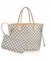 Женская сумка LOUIS VUITTON NEVERFULL DAMIER AZUR (4058)