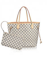 Женская сумка в стиле LOUIS VUITTON NEVERFULL DAMIER AZUR (4058), фото 1