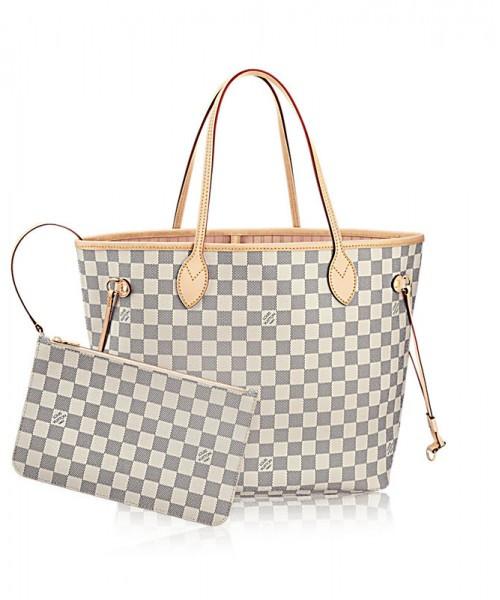 de88518a47ad Женская сумка LOUIS VUITTON NEVERFULL DAMIER AZUR (4058): продажа ...