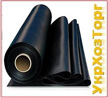 Пленка черная полиэтиленовая 120 мкм (для мульчирования,строительства) 1,5 м рукав 3 м в развароте