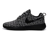 Женские кроссовки Nike Roshe Run Flyknit Turtle Black