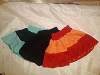 Трикотажные юбки на девочку 2-3 года