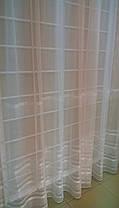 Тюль Полоска Белый Люрекс, микросетка с вышивкой, фото 3