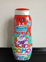 Детский шампунь-гель Finale Momo,клубника 500ml.