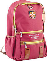 Рюкзак подростковый ортопедический ТМ 1 Вересня CA 069, бордовий, 30*48*15, фото 1