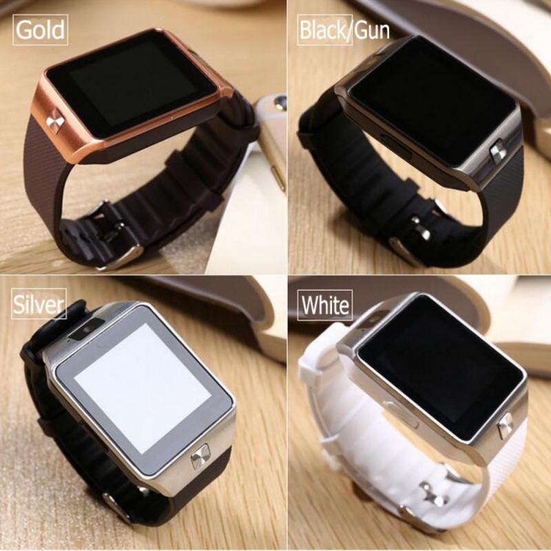 Умные часы DZ09 Smart Watch со слотом сим и micro SD серебро