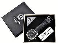 Наручные кварцевые часы с USB зажигалкой №4829-1, два модных девайса в одном, время и огонек всегда с Вами