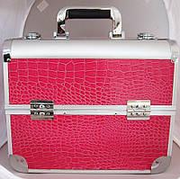 Алюминиевый кейс для косметики - CaseLife A-72 Малиновый - A72-PINK-GL