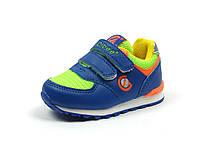 Детская обувь кроссовки Clibee:F-599 тем.Синий+Салат., фото 1