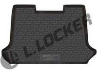 Резиновый коврик в багажник Fiat Doblo 01-11 Panorama Lada Locer (Локер)