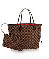 Женская сумка LOUIS VUITTON NEVERFULL DAMIER EBENE (4057)