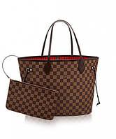 Женская сумка в стиле LOUIS VUITTON NEVERFULL DAMIER EBENE (4057), фото 1
