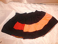 Трикотажная юбка на девочку 5-7 лет.