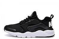 Женские кроссовки Nike Huarache Ultra Black White, фото 1