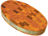 Доска торцевая овальная 900х500х70мм с металл ободом Украина ДРТО90ПР
