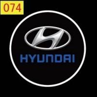 Дверной логотип LED LOGO 074 HYUNDAI , Светодиодная подсветка на двери с логотипом, Лазерная проекция