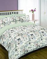 Двуспальный набор постельного белья Ранфорс platinum №9708