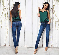 Женские стильные джинсы слим 086