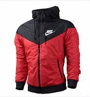 Виндранер, ветровка, куртка весенняя, осенняя! Windrunner Nike Черный+красный