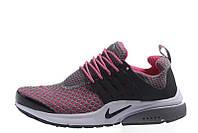 Женские кроссовки Nike Air Presto TP QS Flyknit Grey Pink