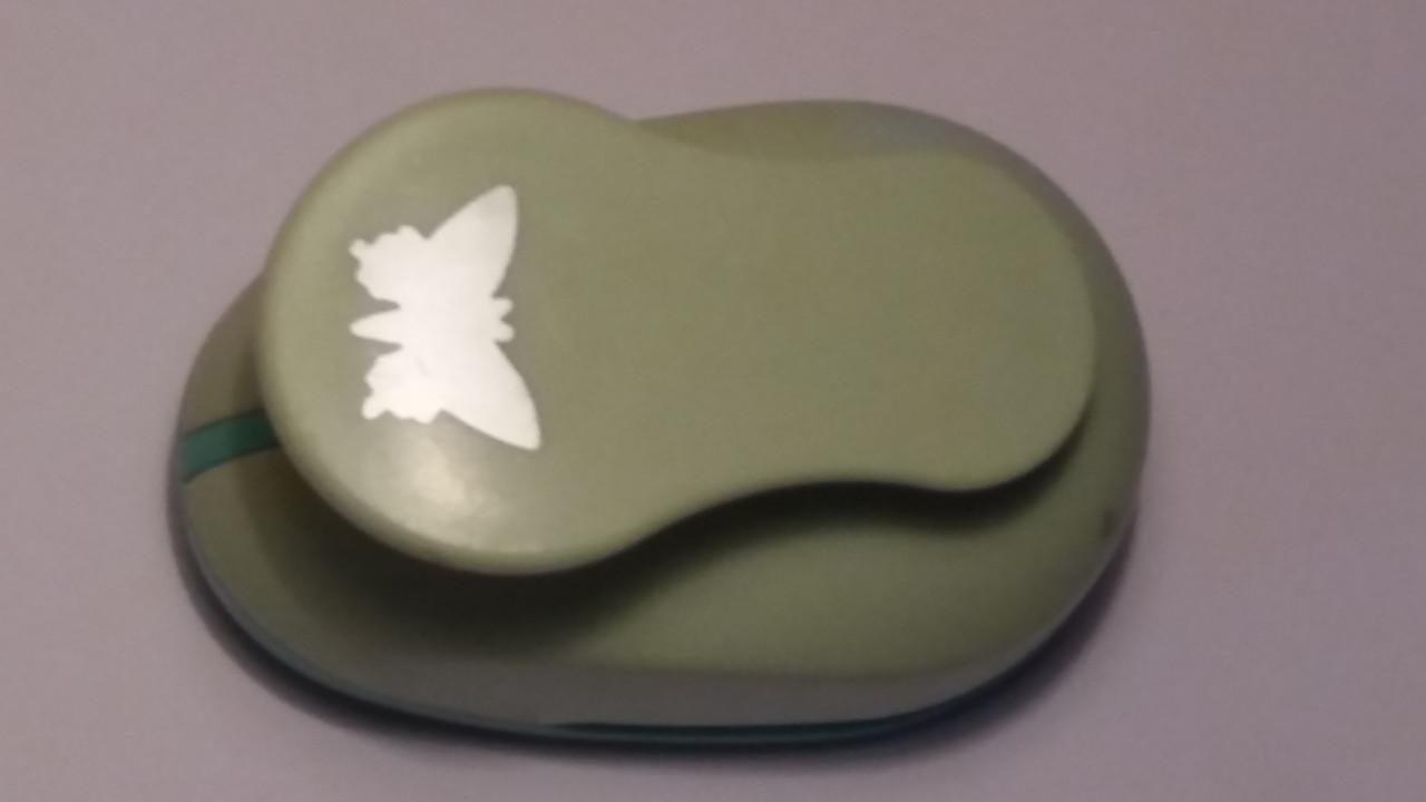 """Креативный панч одинарный, d=38 мм, в блистере """"Бабочка"""""""