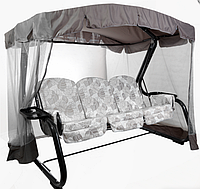 """Качели садовые раскладные """"Мастак Премиум"""" с652 с москитной сеткой, подушками, светодиодный фонарь"""