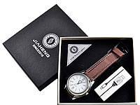 Наручные кварцевые часы с USB зажигалкой №4829-2, стильные часы с зажигалкой, два в одном, время и огонь