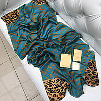 Шелковый шарф Louis Vuitton бирюзовый
