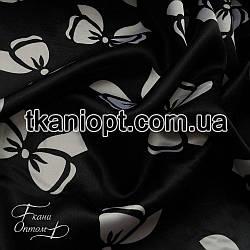 Ткань Атлас бантики черно-белые (50-70 мм)