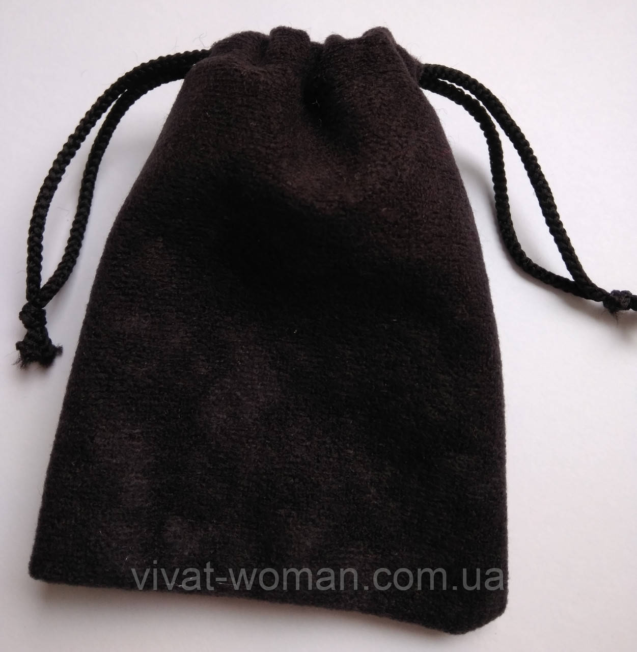 Мешочки ювелирные, бархат матовый черный 7х9 см, 1шт. Производство Украина