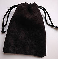 Мешочки ювелирные, бархат матовый черный 7х9 см, 1шт. Производство Украина, фото 1