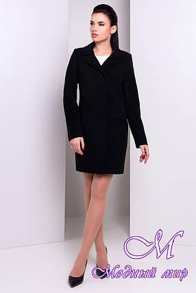 Женское черное кашемировое пальто (р. S, M, L) арт. Ками 9749, фото 2