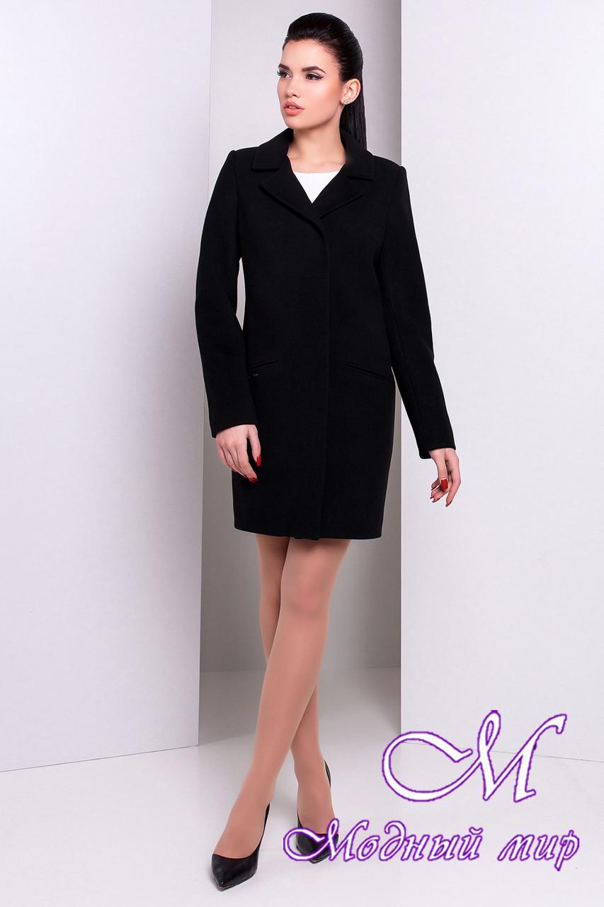 Женское черное кашемировое пальто (р. S, M, L) арт. Ками 9749