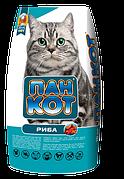 Пан Кот РЫБА 10кг Сухой корм для взрослых кошек