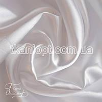 Купить ткань атлас дешевый белый и другие цвета оптом ,ткань Атлас обычный белый оптом (65 gsm)