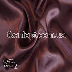 Ткань Атлас обычный (темный бисквит)