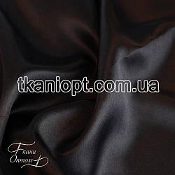 Ткань Атлас обычный плотный (черный)