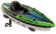 Надувная байдарка Challenger K1 Kayak Intex 68305, фото 1