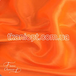 Ткань Атлас обычный плотный оранжевый