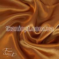Ткань Атлас обычный плотный светло-бронзовый